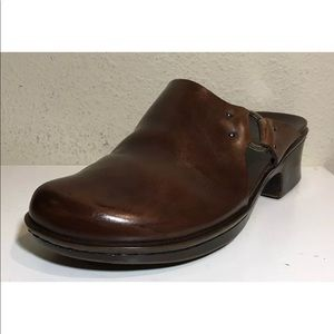 Timberland Women Shoes Clog Brown Leather Sz 7.5 M